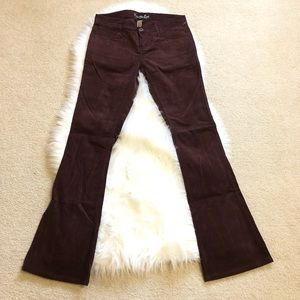 American Eagle maroon Corduroy Pants size 2